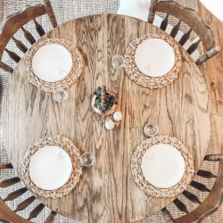 How I Lightened My Round Oak Table